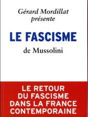 Le fascisme - Couverture - Format classique