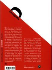 Le fascisme - 4ème de couverture - Format classique