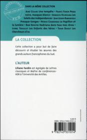 Le papillon et la lumière, de Patrick Chamoiseau - 4ème de couverture - Format classique