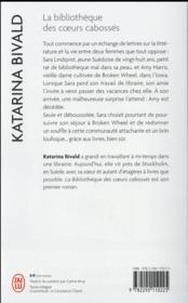 La bibliothèque des coeurs cabossés - 4ème de couverture - Format classique