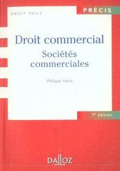 Droit Commercial ; Societes Commerciales ; 7e Edition - Intérieur - Format classique