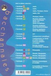 Bacchannales S ; Svt ; Enseignement Obligatoire ; Sujets Du Bac 2006, 2005, 2004 Et 2003 Et Résumé De Cours (2e Edition) - 4ème de couverture - Format classique