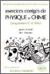 Exercices Corriges De Physique Chimie Agro-Veto - Intérieur - Format classique