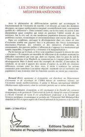 Les Zones Defavorisees Mediterraneenes - 4ème de couverture - Format classique