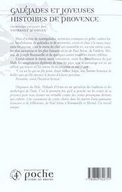 Galejades et contes comiques de provence - 4ème de couverture - Format classique