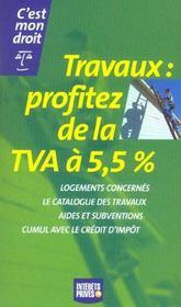 Travaux: Profitez De La Tva A 5.5 - Intérieur - Format classique