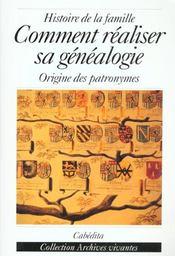 Comment Realiser Sa Genealogie - Intérieur - Format classique