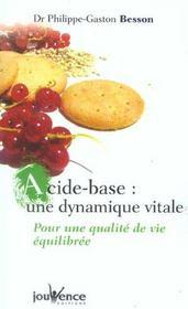 Acide-base : une dynamique vitale - Intérieur - Format classique