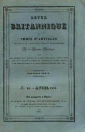 Revue britannique ou choix d'articles traduits des meilleurs écrits périodiques dela grande bretagne, nouvelle série, n°10, avril 1831 - Couverture - Format classique
