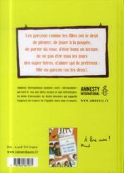 La déclaration des droits des garçons - 4ème de couverture - Format classique