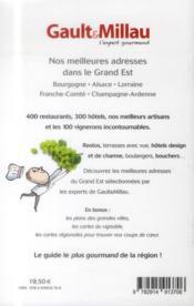 Guide grand Est ; Bourgogne, Alsace, Lorraine, Franche-Comté, Champagne-Ardenne - 4ème de couverture - Format classique