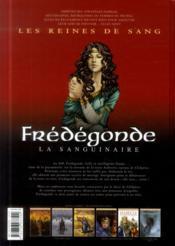 Les reines de sang - Frédégonde, la sanguinaire T.1 - 4ème de couverture - Format classique