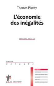 L'économie des inégalités - Couverture - Format classique