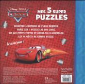 Cars ; mes 5 super puzzles - 4ème de couverture - Format classique