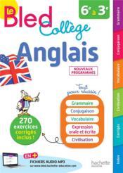 BLED ; anglais collège - Couverture - Format classique