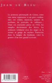 Jean le Bleu - 4ème de couverture - Format classique