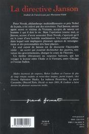 La Directive Janson - 4ème de couverture - Format classique