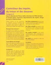 Controleur Des Impots, Du Tresor Et Des Douanes - Couverture - Format classique