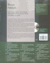 Baux ruraux ; le statut du fermage et du métayage, réglementations structurelle, fiscale, économique et sociale (6e édition) - 4ème de couverture - Format classique