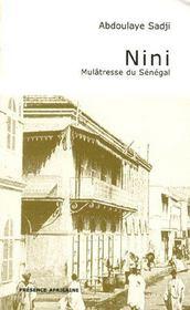 Nini mulatresse du Sénégal - Couverture - Format classique
