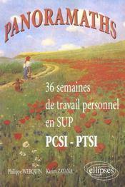 Panoramaths 36 Semaines De Travail Personnel En Sup Pcsi-Ptsi - Intérieur - Format classique