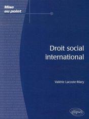 Droit social international - Intérieur - Format classique