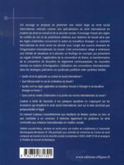 Droit social international - 4ème de couverture - Format classique