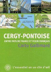 Cergy-Pontoise ; entre pays de France et vexin français - Couverture - Format classique