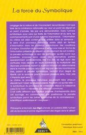 Force du symbolique (la) - 4ème de couverture - Format classique