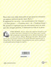 Chroniques d'un pigeon parisien t.1 - 4ème de couverture - Format classique