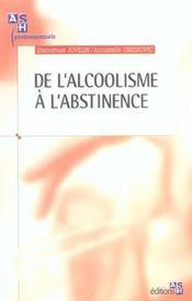De l alcoolisme a l abstinence - Intérieur - Format classique