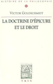 La Doctrine d'Epicure et le droit - Couverture - Format classique