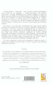 Revue La Licorne ; Racine Poète - 4ème de couverture - Format classique