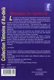 Messages de l'apres-vie - 4ème de couverture - Format classique