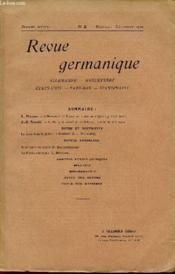 Revue Germanique / Allemagne - Angleterre - Etats-Unis - Pays-Bas - Scandinavie / Sixieme Annee - N°5 - Nomvembre-Decembre 1910. - Couverture - Format classique