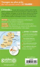 GEOGUIDE ; Irlande - 4ème de couverture - Format classique