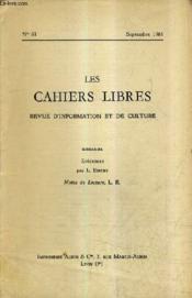 LES CAHIERS LIBRES REVUE D'INFORMATION ET DE CULTURE N°61 SEPTEMBRE 1961 - Evidences - Notes de lecture. - Couverture - Format classique