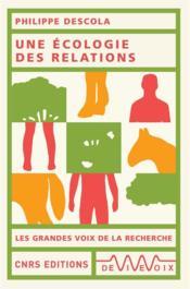 Une écologie des relations - Couverture - Format classique