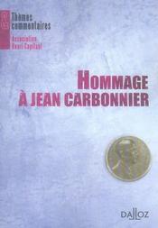 Hommage à Jean Carbonnier - Intérieur - Format classique