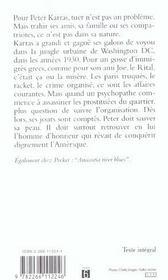 Un Nomme Peter Karras - 4ème de couverture - Format classique