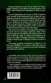 Mathieu Kerekou 1933-1996 : L'Inamovible President Du Benin - 4ème de couverture - Format classique