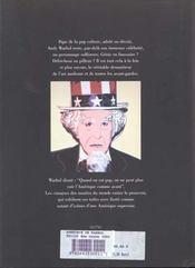 L'Amerique De Warhol - 4ème de couverture - Format classique