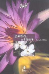 Paroles De Fleurs - Intérieur - Format classique