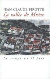 Vallee De Misere (La) - Couverture - Format classique