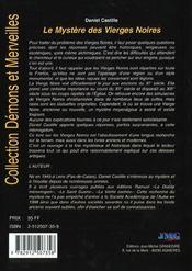 Mystere des vierges noires (le) - 4ème de couverture - Format classique