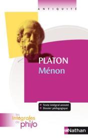 Ménon, de Platon - Couverture - Format classique