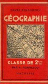 Cours demangeon, Géographie, classe de 2ème - Couverture - Format classique