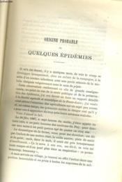 Origine Probable De Quelques Epidemies / Rapport Sur Les Inoculations Preventives - Couverture - Format classique