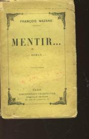 Mentir... - Couverture - Format classique
