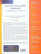 Intra-community vat handbook - 1ere ed. - 4ème de couverture - Format classique